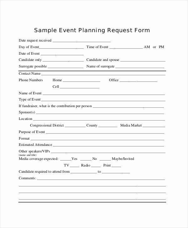 Wedding Planner Questionnaire Template Wedding Planner Questionnaire Template Unique 14 Sample