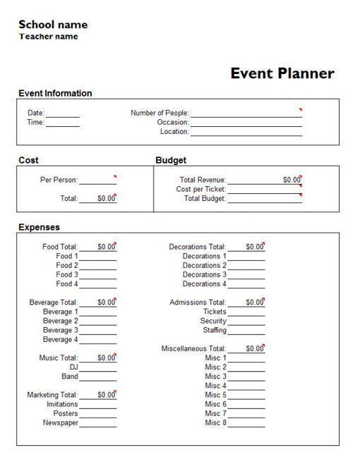 Wedding Planner Template Word Pin Auf Wedding event