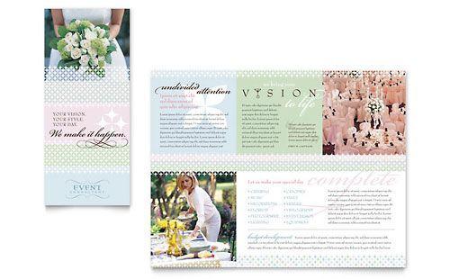 Wedding Planner Template Word Wedding & event Planning Brochure Word Template