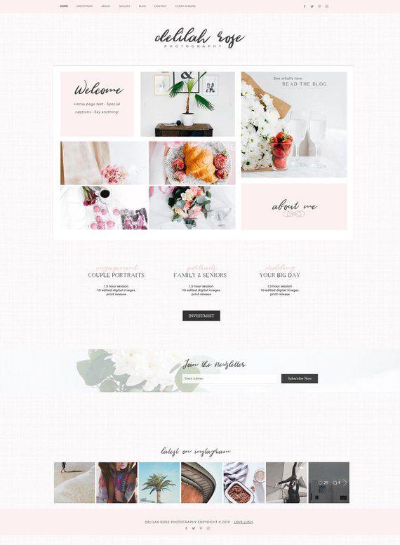 Wedding Planner Website Template Delilah Rose Wix Template Website Responsive Graphy