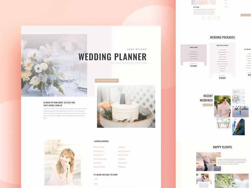 Wedding Planner Website Template event Planner Website Template Best Wedding Planner