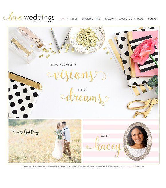 Wedding Planner Website Template Website Templates