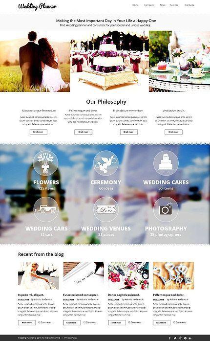 Wedding Planner Website Template Wedding Planner Website Template In 2020