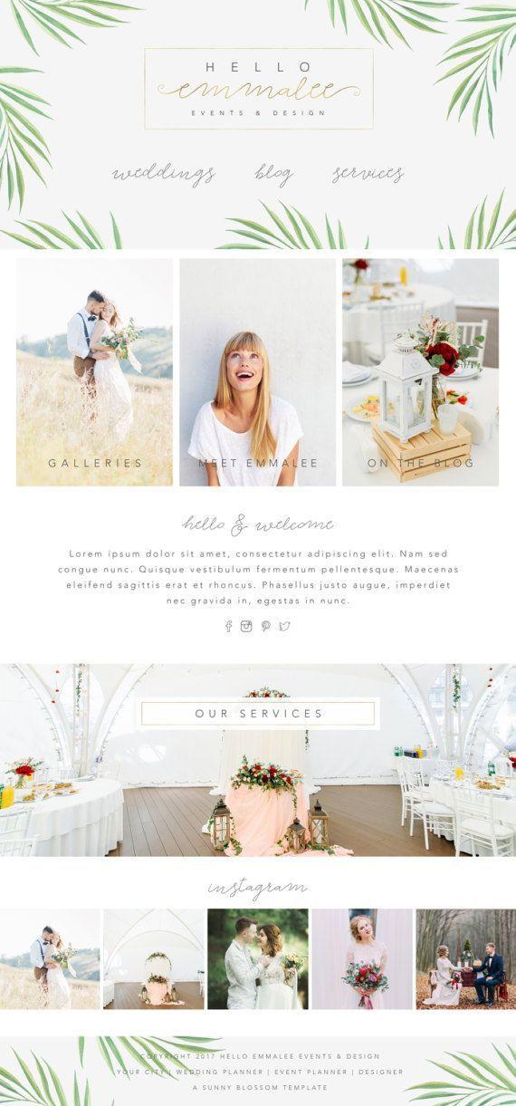 Wedding Planner Website Template Wix Website Template Wedding Planner by Sunnyblossomdesigns