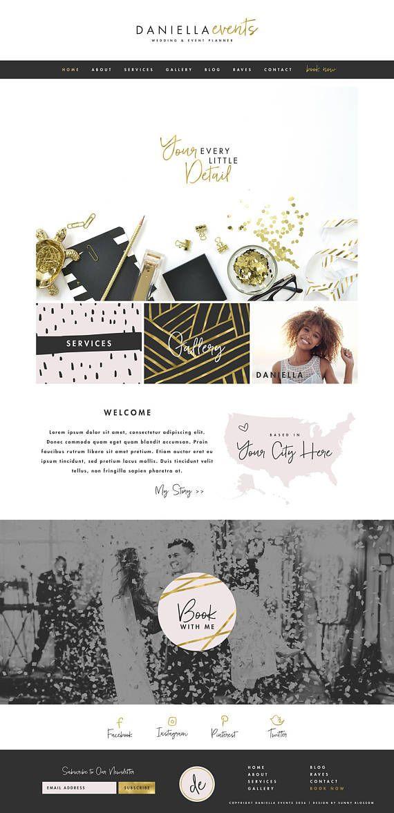 Wedding Planner Website Template Wix Website Template Wedding Planner Website event Planner