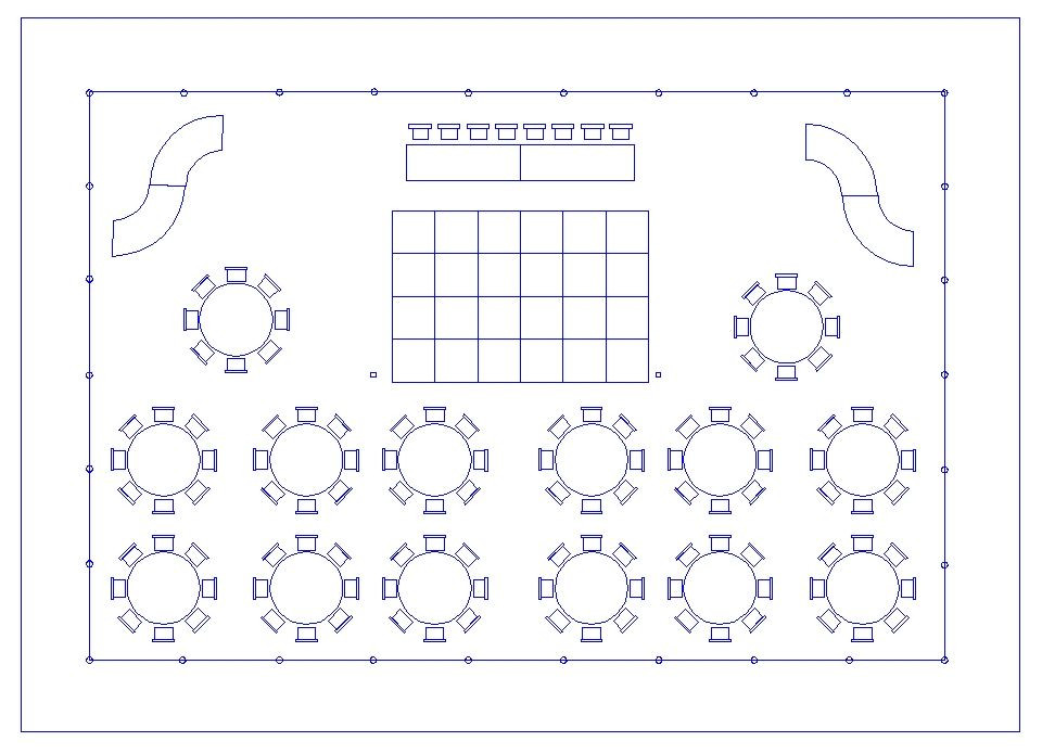 Wedding Reception Floor Plan Template 40 X 60 Pole Supported Tent