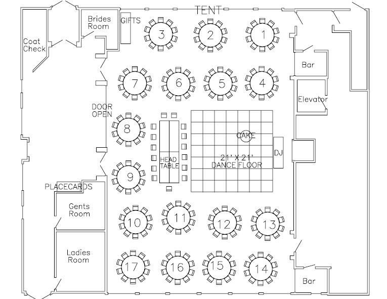 Wedding Reception Floor Plan Template Interesting Ballroom Layout with Head Table Keep the Bride