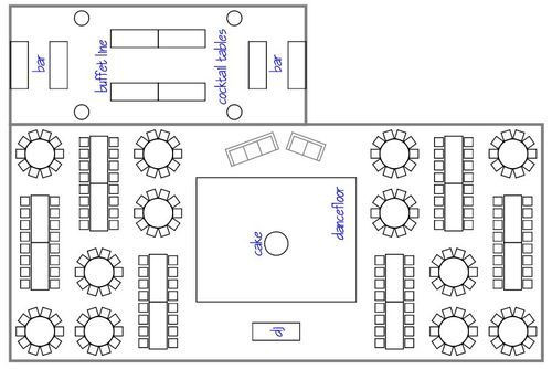 Wedding Reception Floor Plan Template Layouts Maps Diagrams
