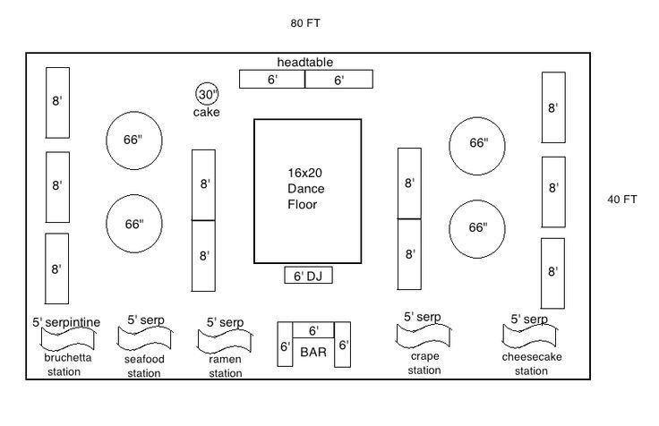 Wedding Reception Floor Plan Template Tables Layout for Wedding with Round and Banquet Google