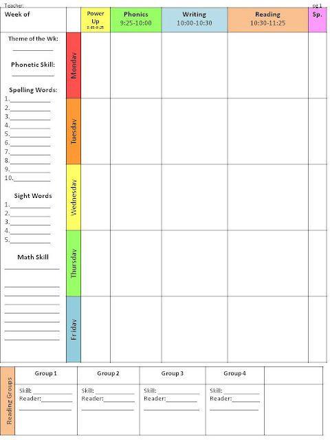 Week Lesson Plan Template Pin On Classroom organization