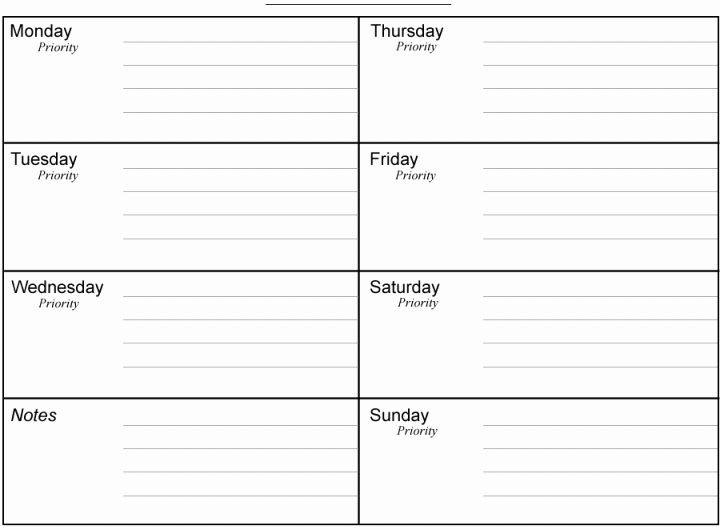 Week Planner Template Word Week Planner Template Word Inspirational 10 Weekly Planner
