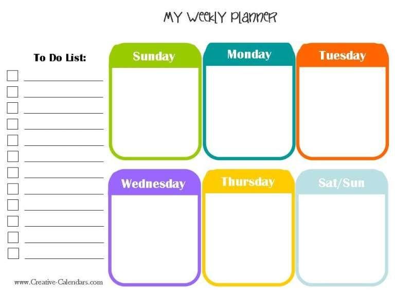 Week Planner Template Word Weekly Planner Template 1