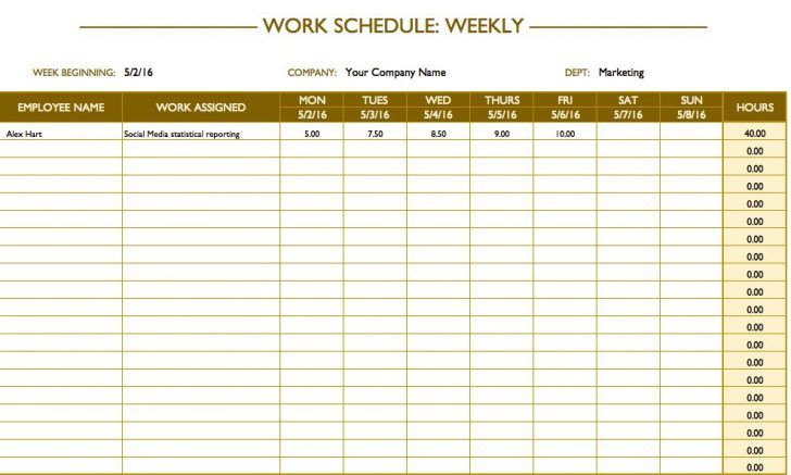 Weekly Hourly Planner Template Excel Excel Weekly Hourly Schedule Template
