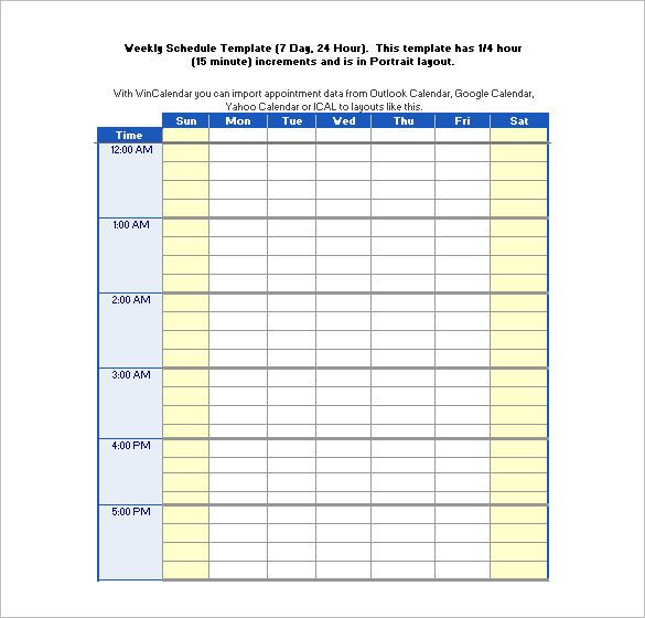 Weekly Hourly Planner Template Excel Pdf Doc Excel Free & Premium Templates