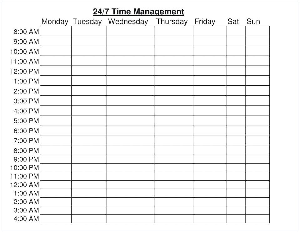 Weekly Hourly Planner Template Excel Weekly Hourly Planner Template Excel