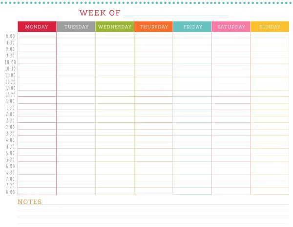 Weekly Hourly Planner Template Image Result for Free Weekly Planner Template