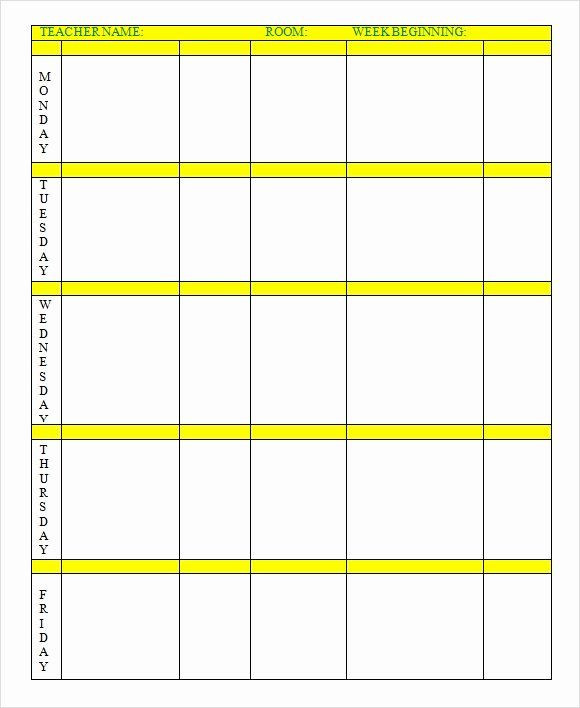 Weekly Lesson Plan Template Doc Elementary School Lesson Plans Template Elegant Weekly