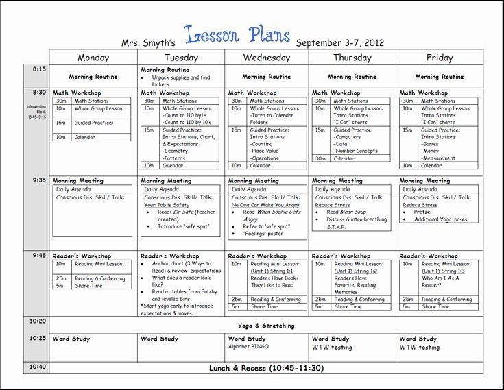 Weekly Lesson Plan Template Doc Weekly Lesson Plan Template Doc Elegant First Week Lesson