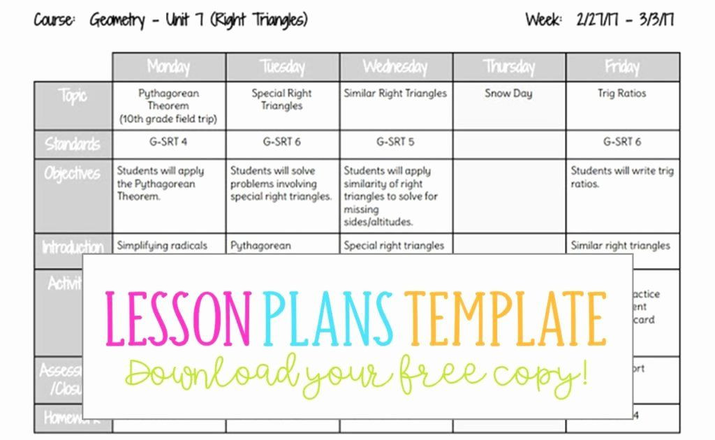 Weekly Lesson Plan Template Doc Weekly Lesson Plan Template Doc Unique Lesson Plans Template