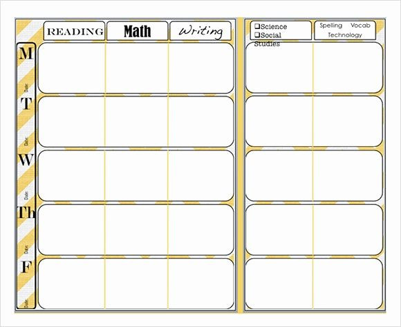 Weekly Lesson Planning Template Weekly Lesson Plan Template Word Fresh Free 7 Sample Weekly