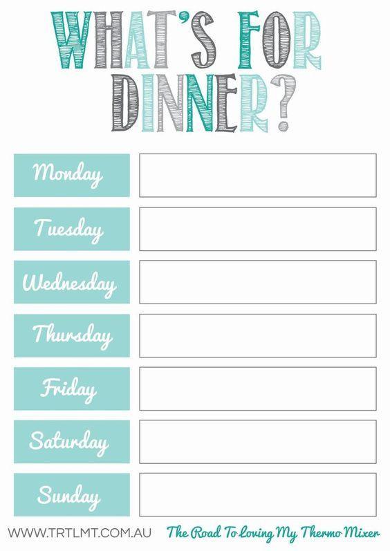 Weekly Meal Plan Template Word 10 Free Weekly Meal Plans