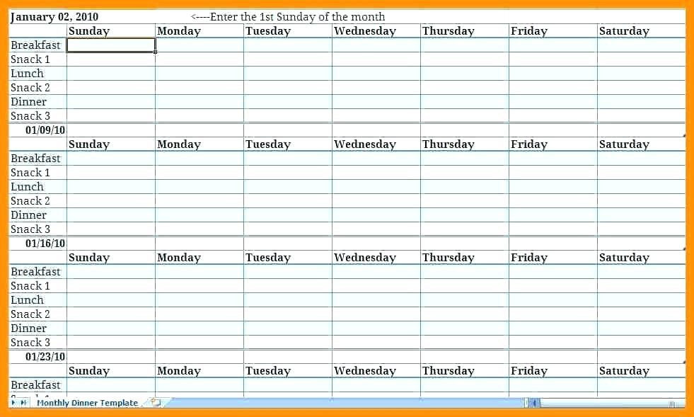 Weekly Meal Planner Template Excel 25 Excel Meal Planner Excel Templates Weekly Meal Planner