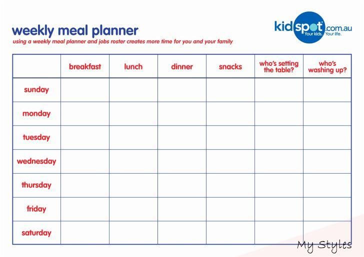 Weekly Meal Planner Template Excel Oct 21 2019 Weekly Meal Planner Template Word Luxury Meal