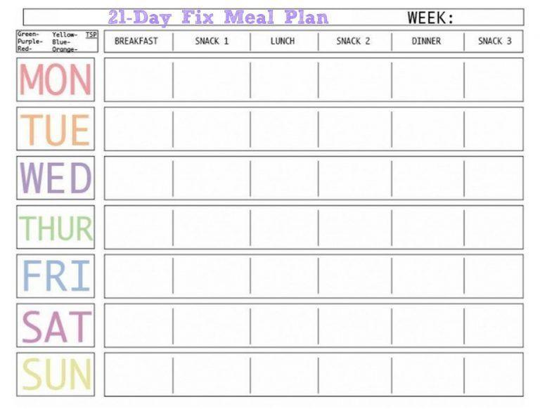 Weekly Meal Planner Template Printable Weekly Meal Planner Template with Snacks Website with Photo