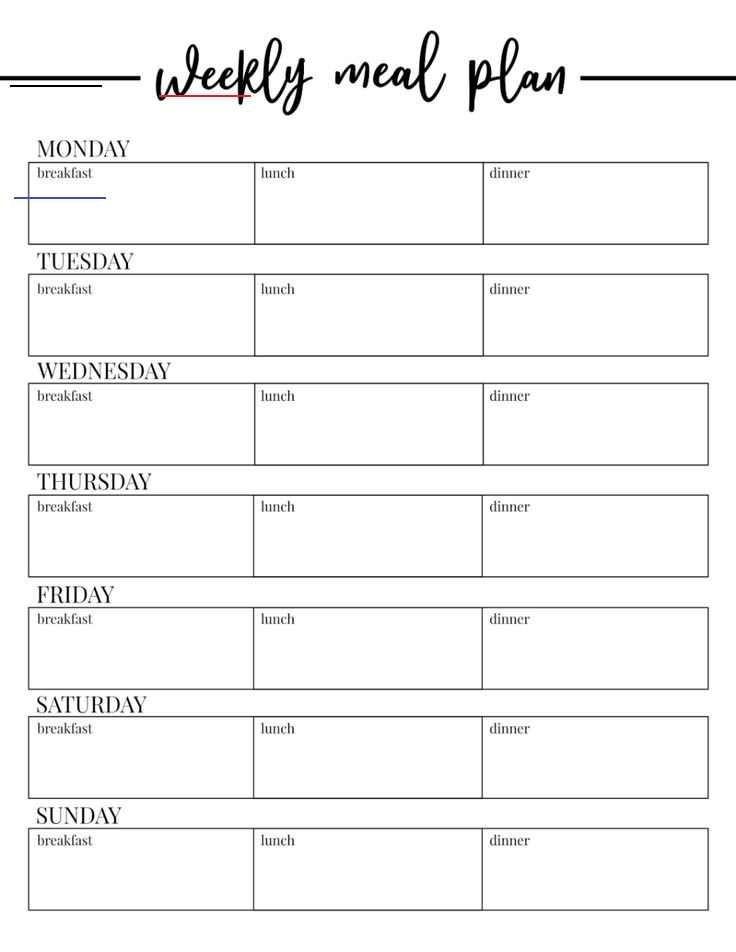 Weekly Meal Planning Template Free Printable Weekly Meal Plan Template Paper Trail