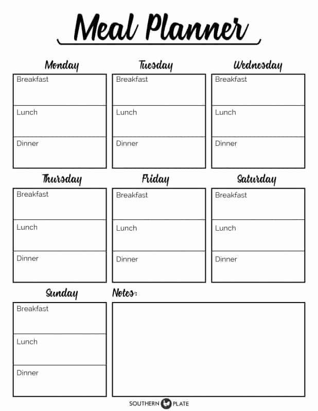 Weekly Menu Planner Template Meal Plan Template Pdf Beautiful Free Printable Menu Planner
