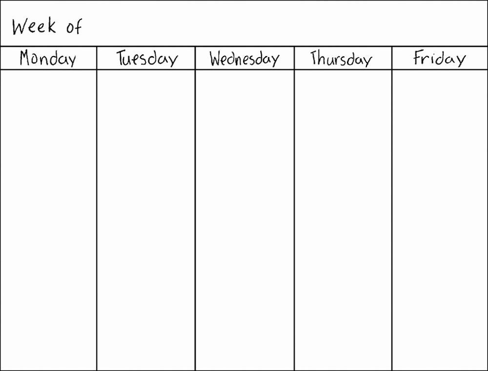 Weekly Monthly Planner Template √ 25 Weekly Calendar Template Free In 2020