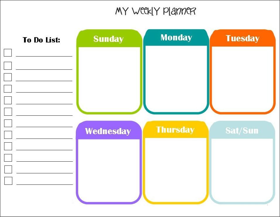 Weekly Monthly Planner Template April 2018 Weekly Calendar Planner Download