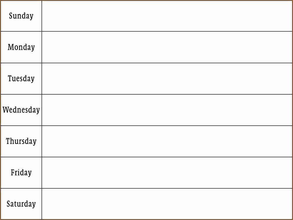 Weekly Monthly Planner Template Blank Weekly Schedule Template Beautiful 8 Week Calendar