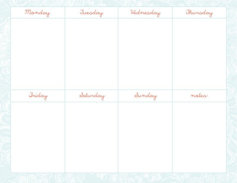 Weekly Monthly Planner Template Pin by Paula T On Planner Inserts