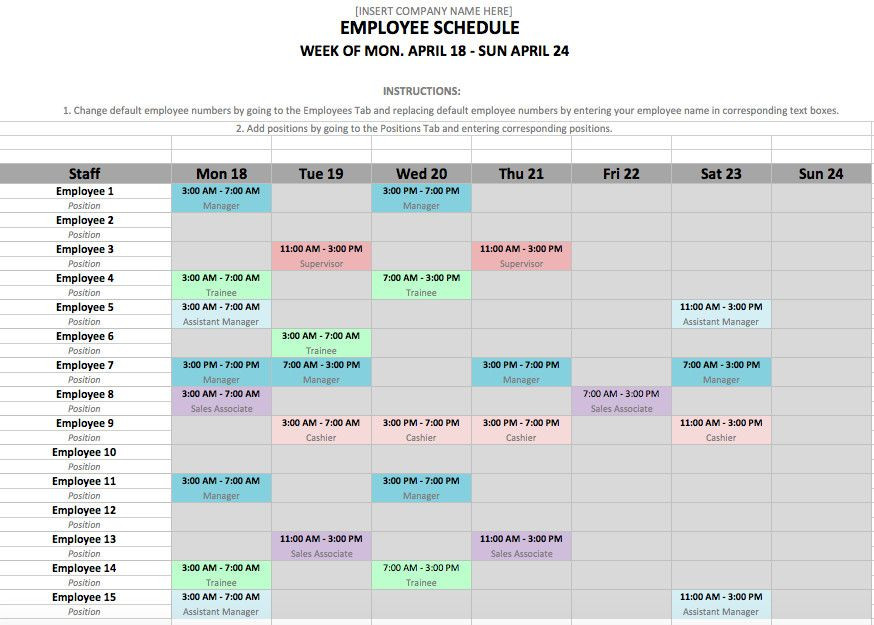 Weekly Planner Template Excel Excel Weekly Schedule Template Proper Weekly Employee Shift