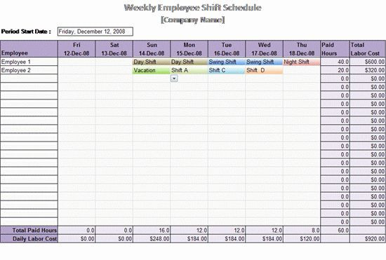 Weekly Planner Template Excel Excel Work Schedule Template Elegant Work Schedule Template