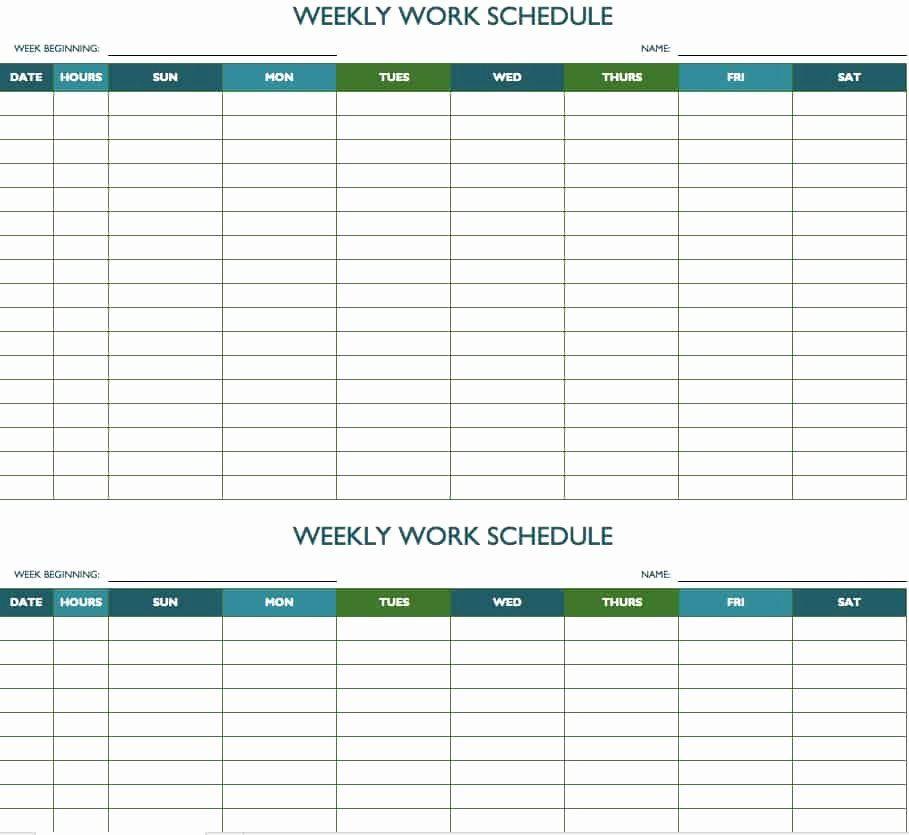 Weekly Planner Template Excel Weekly Employee Schedule Template Excel Elegant Free Weekly