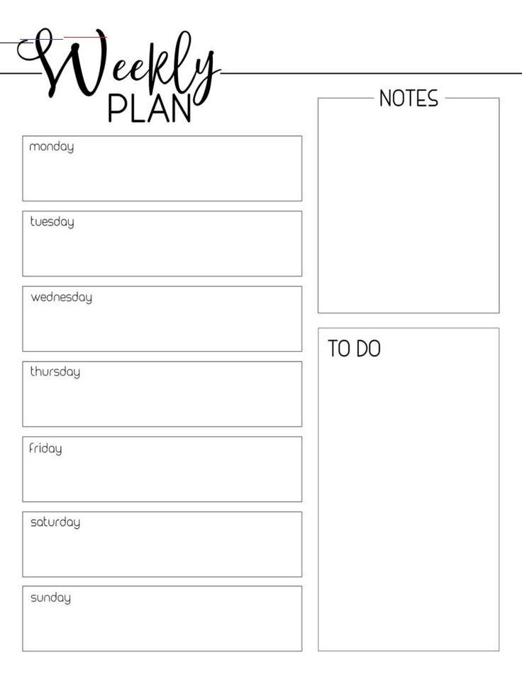 Weekly Planner Template Weekly Planner Template Free Printable Paper Trail Design