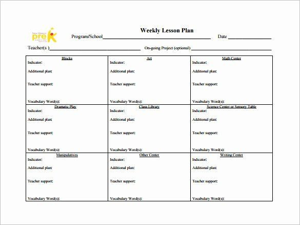 Weekly Plans Template Weekly Lesson Plans Template Inspirational Weekly Lesson