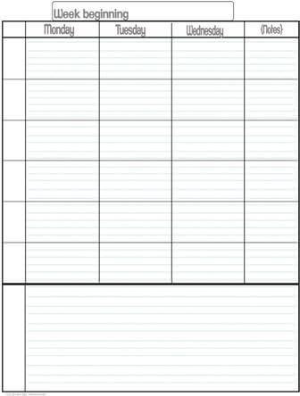 Weekly School Planner Template Pin On Homeschool Ideas