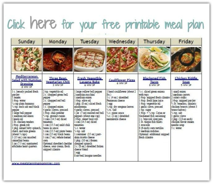 Weight Watcher Meal Planner Template Pin On Recipes Weight Watchers
