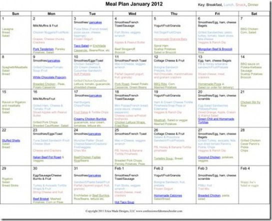 Weight Watcher Meal Planner Template Pin On T Plan