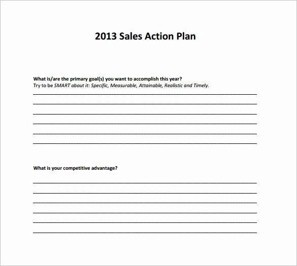 Whole Foods Action Plan Template Free Sales Plan Template Awesome Sales Action Plan Template