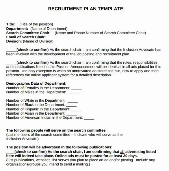 Whole Foods Action Plan Template Recruitment Strategic Plan Template Awesome 8 Recruitment
