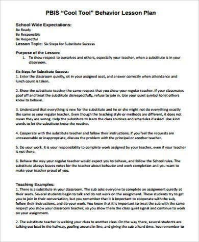 Whole Foods Action Plan Template Substitute Teacher Lesson Plan Template Sample Teacher