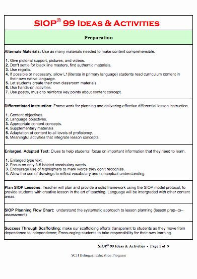 Wida Lesson Plan Template Wida Lesson Plan Template New Here S A Set 99 Ideas and
