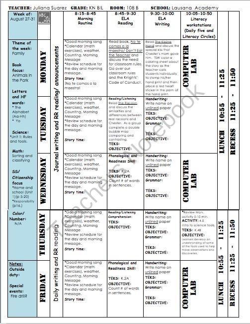 Wilson Fundations Lesson Plan Template Teachers Notebook