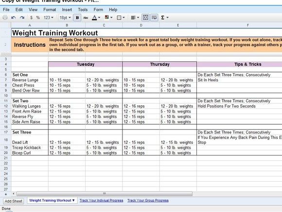 Workout Plan Template Excel 50 Time Saving Google Docs Templates