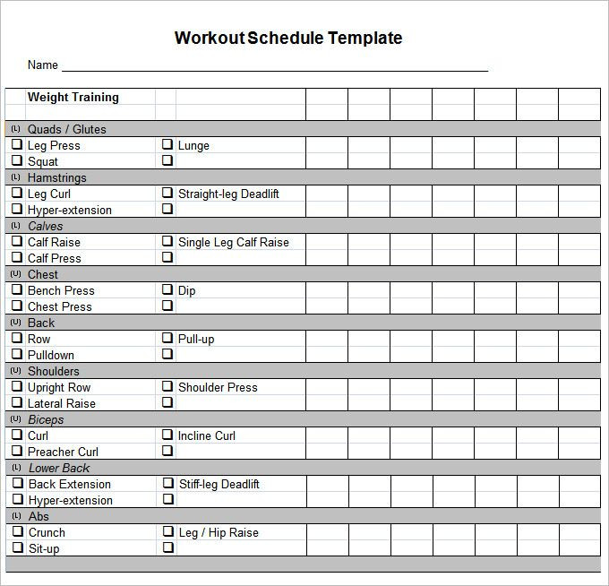 Workout Plan Template Excel Pdf Docs Free & Premium Templates