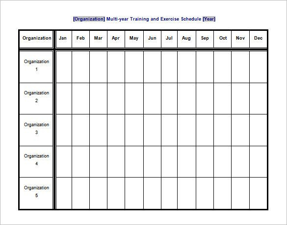 Workout Plan Template Excel Training and Exercise Schedule Template Free Word format